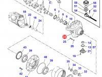 Левый поворотный кулак моста трактора Massey Ferguson — 7550605701