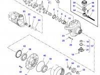 Правый бортовой редуктор(бортовая) переднего моста для трактора Massey Ferguson (до серийного U062009, тип 750/544) — 7550640003