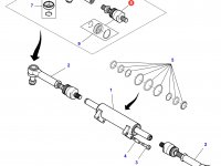 Шарнирный наконечник рулевой тяги трактора Massey Ferguson — 7552445018