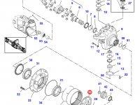 Солнечная шестерня бортового редуктора переднего моста трактора Challenger — 7600600901