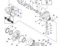 Правый бортовой редуктор(бортовая) переднего моста трактора Challenger — 7600640007