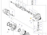 Правый поворотный кулак моста трактора Massey Ferguson — 7700602705