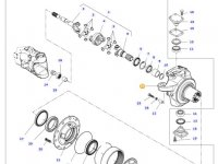 Правый поворотный кулак моста трактора Challenger — 7700609201