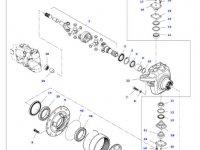 Планетарная (сателлитную) шестерня бортового редуктора переднего моста трактора Massey Ferguson — 7700610501