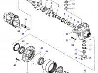 Правый бортовой редуктор(бортовая) переднего моста трактора Challenger (гидропневматическая подвеска) — 7700640002