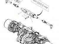 Рулевой цилиндр трактора Massey Ferguson (тип 770/638) — 7702460001