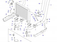Патрубок интеркулера двигателя Sisu Diesel — 35186800
