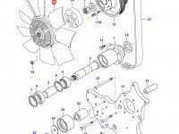 Крыльчатка (вентилятор) радиатора двигателя Sisu Diesel(в сборе с вискомуфтой?) — 836867933