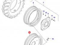 Задний колесный диск - DW16Lx34 (A - fixed) — 33066110