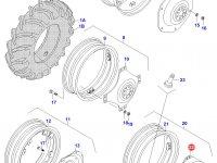 Вставка заднего колесного диска трактора (фланцевая гайка) — 33130300
