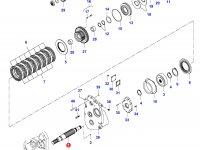 Вал муфты полного привода КПП — 35030400