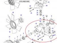 Водяной насос охлаждения двигателя Sisu Diesel — 836766976