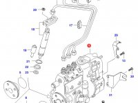 Топливный насос высокого давления (ТНВД) двигателя Sisu Diesel — 836654781