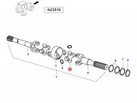 Крестовина приводного(шарнирного) вала переднего моста — 34051600
