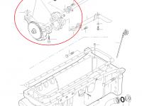 Масляный насос двигателя трактора Challenger — 836874180