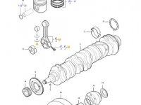 Комплект шатунов двигателя трактора Challenger — 837079496