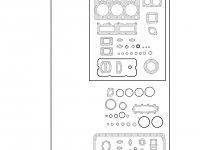 Комплект прокладок двигателя Sisu Diesel трактор Challenger — 837079674