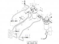 Комплект топливных фильтров двигателя трактора Massey Ferguson — 837091129