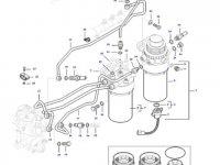 Комплект топливных фильтров двигателя трактора Massey Ferguson — 837091385