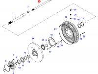 Вал гидравлического сцепления КПП — 34074400
