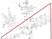 Водяной насос охлаждения двигателя Sisu Diesel — 836538441