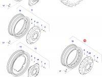 Задний колесный диск - TW25Bx42 (GKN, 50km/h, Track width:1811mm) — 37137310
