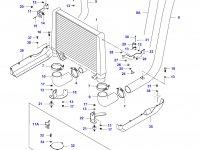 Патрубок интеркулера двигателя Sisu Diesel — 34040600