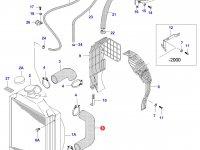 Нижний патрубок радиатора двигателя Sisu Diesel — 30107710