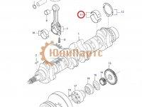 Вкладыши коренные двигателя Sisu Diesel — 836840944