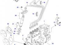 Трубка отвода топлива (топливоотвод) двигателя Sisu Diesel — 836747520