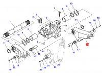 Левый рычаг навески для тракторов Challenger — 903860030020