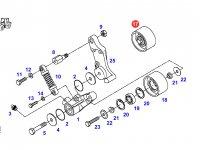 Натяжной ролик ремня двигателя трактора Fendt — 916201040180