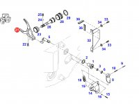 Вилка переключения передач КПП трактора Fendt — 926103080020