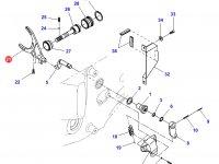 Вилка переключения передач КПП трактора Challenger — 926103080020