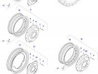 Задний колесный диск - TW18Lx38 (GKN, ES287004) — 0042000