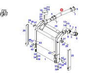 Патрубок интеркулера двигателя трактора Fendt — 930200191010