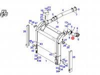 Патрубок интеркулера двигателя трактора Fendt — 930200191020