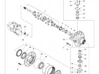 Коронная шестерня бортового редуктора переднего моста трактора Massey Ferguson — 931303220230