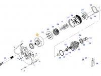 Муфта включения вала отбора мощности (ВОМ) трактора Massey Ferguson — 934152220140