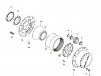 Солнечная шестерня редуктора моста — 36247600