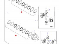 Комплект фрикционных дисков дифференциала моста — 31799500