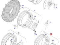 Задний колесный диск - DW12x38(865) — 33129900
