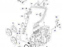 Трубка отвода топлива (топливоотвод) двигателя Sisu Diesel — 836647521