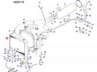 Радиатор двигателя Sisu Diesel — 34645010