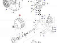 Шкив водяного насоса двигателя Sisu Diesel — 836866629