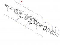 Комплект приводных(шарнирных) валов переднего моста — 35727800
