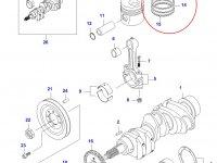 Комплект поршневых колец двигателя Sisu Diesel — 836339201