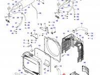 Нижний патрубок радиатора двигателя Sisu Diesel — 32819300
