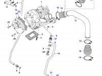 Патрубок турбокомпрессора двигателя Sisu Diesel — 836752137