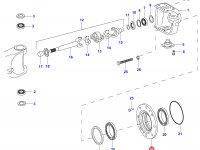 Ступица бортового редуктора моста — 35125600